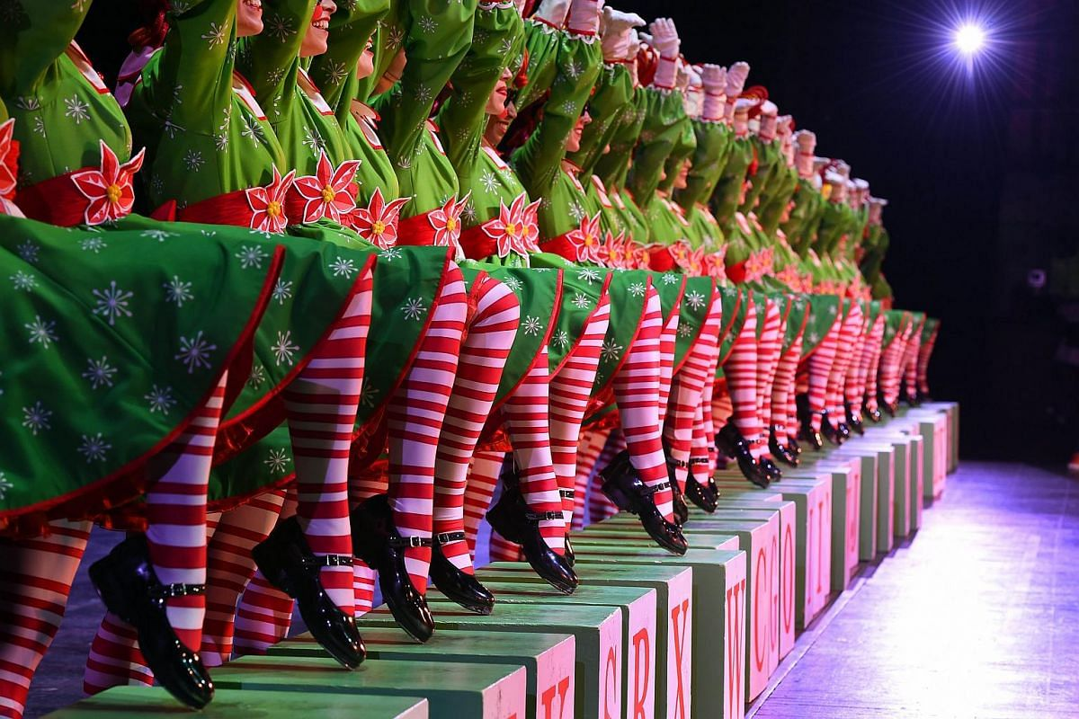 The Rockettes performing their Rag Dolls number during the 2015 Radio City Christmas Spectacular at Radio City Music Hall on Dec 2, 2015.