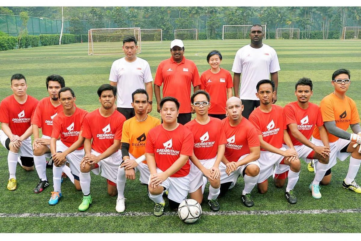 Members of the Singapore Cerebral Palsy football team.