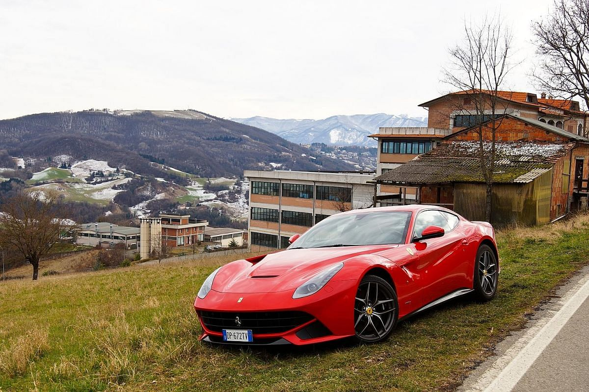 Easy to manage at high speeds and accurate to steer, the Ferrari F12 is a joy to pilot on the quiet Italian country roads of Maranello.