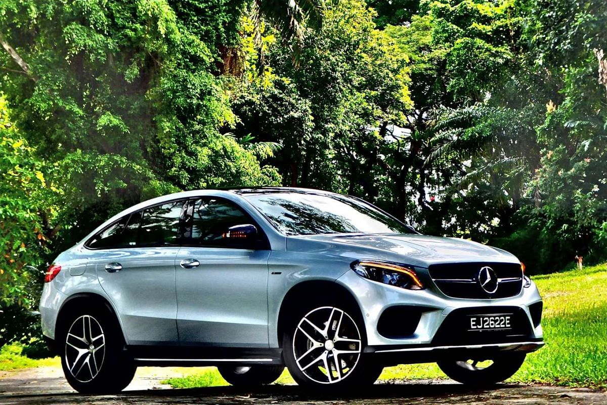 The Mercedes- Benz GLE Coupe takes on BMW's high-riding X6.
