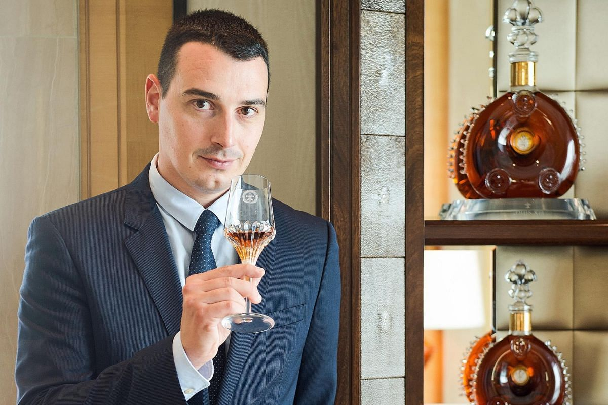 The 35-year-old Baptiste Loiseau (above) is the youngest cellar master of almost three-century-old cognac house Remy Martin.