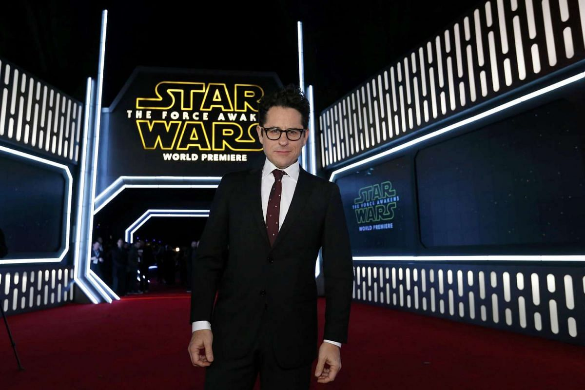 Director J.J. Abrams arriving at the premiere of Star Wars: The Force Awakens.