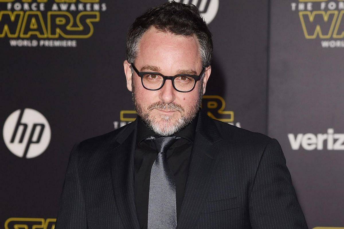 Director Colin Trevorrow arriving at the premiere of Star Wars: The Force Awakens.
