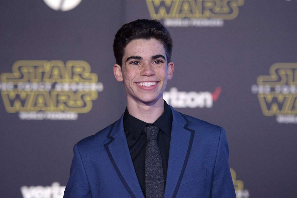 Actor Cameron Boyce arriving at the premiere of Star Wars: The Force Awakens.