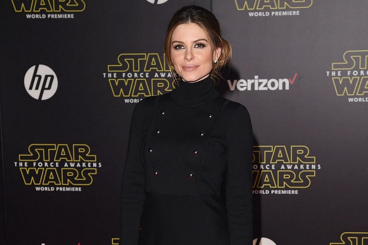 TV personality Maria Menounos arriving at the premiere of Star Wars: The Force Awakens.