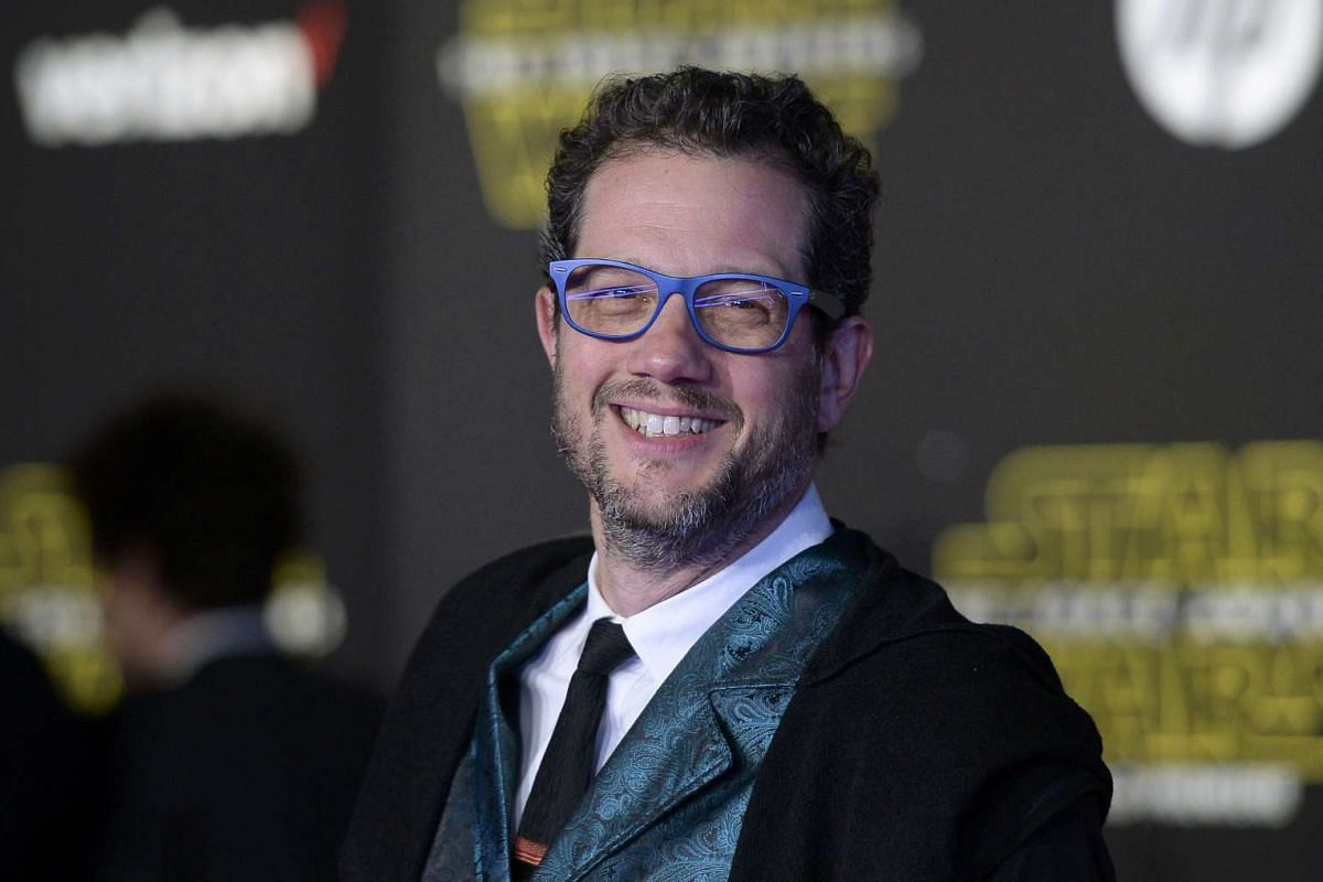 Composer Michael Giacchino arriving at the premiere of Star Wars: The Force Awakens.