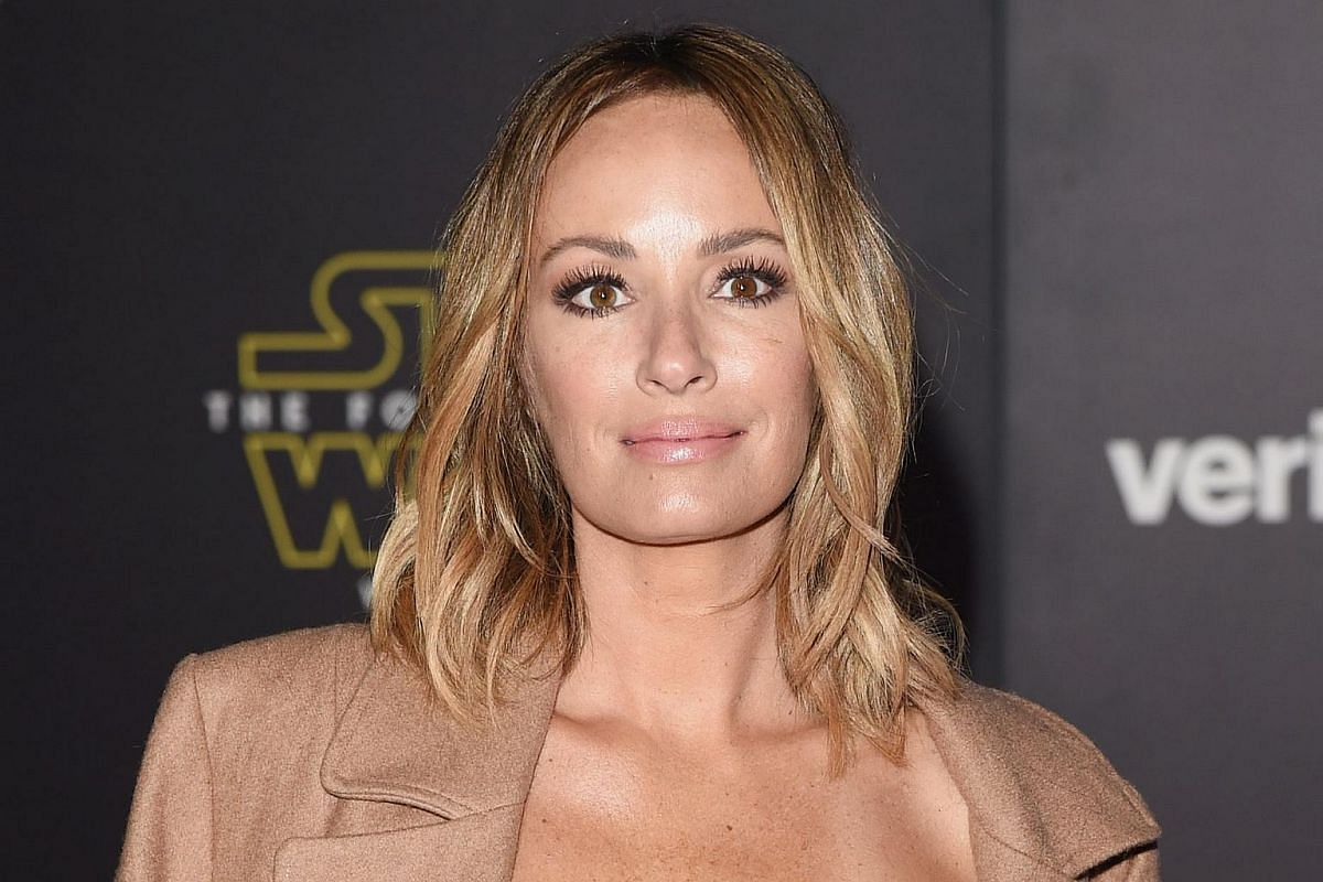 TV personality Catt Sadler arriving at the premiere of Star Wars: The Force Awakens.