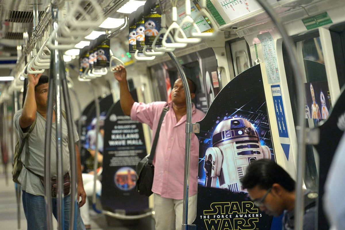 The Star Wars-themed trains will travel along the North-South and East-West lines.