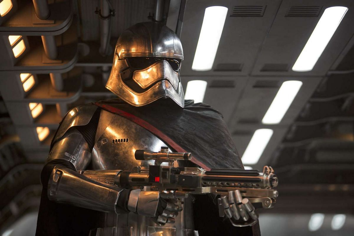 Game Of Thrones star Gwendoline Christie plays Captain Phasma (above), the first female villain in Star Wars