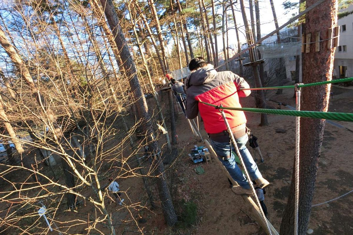 A rope walk and a forest hike were also part of the camera's launch event in Japan. The camera was taken through its paces during these activities, and passed the toughness test.