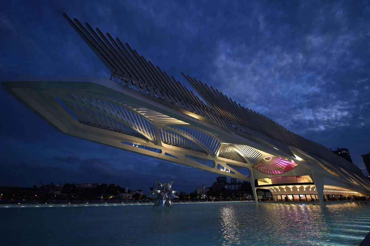View of Tomorrow's Museum, designed by Spanish architect Santiago Calatrava, in Rio de Janeiro, Brazil, on Dec 17, 2015. The museum was inaugurated by Brazilian President Dilma Rousseff as part of a revitalisation programme for the Rio 2016 Olympic G