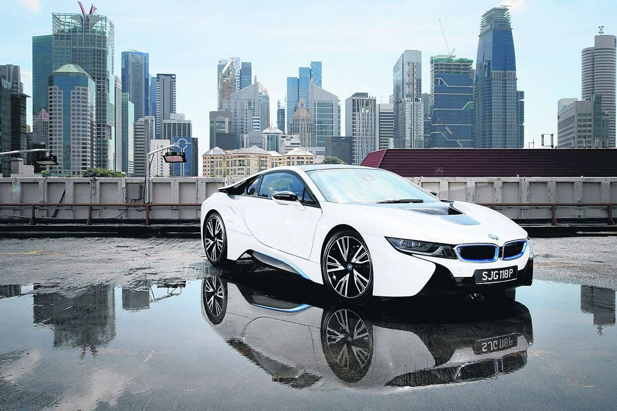 The BMW i8's carbon-fibre structure has made it featherweight and there is a 96kW electric motor assisting the engine.