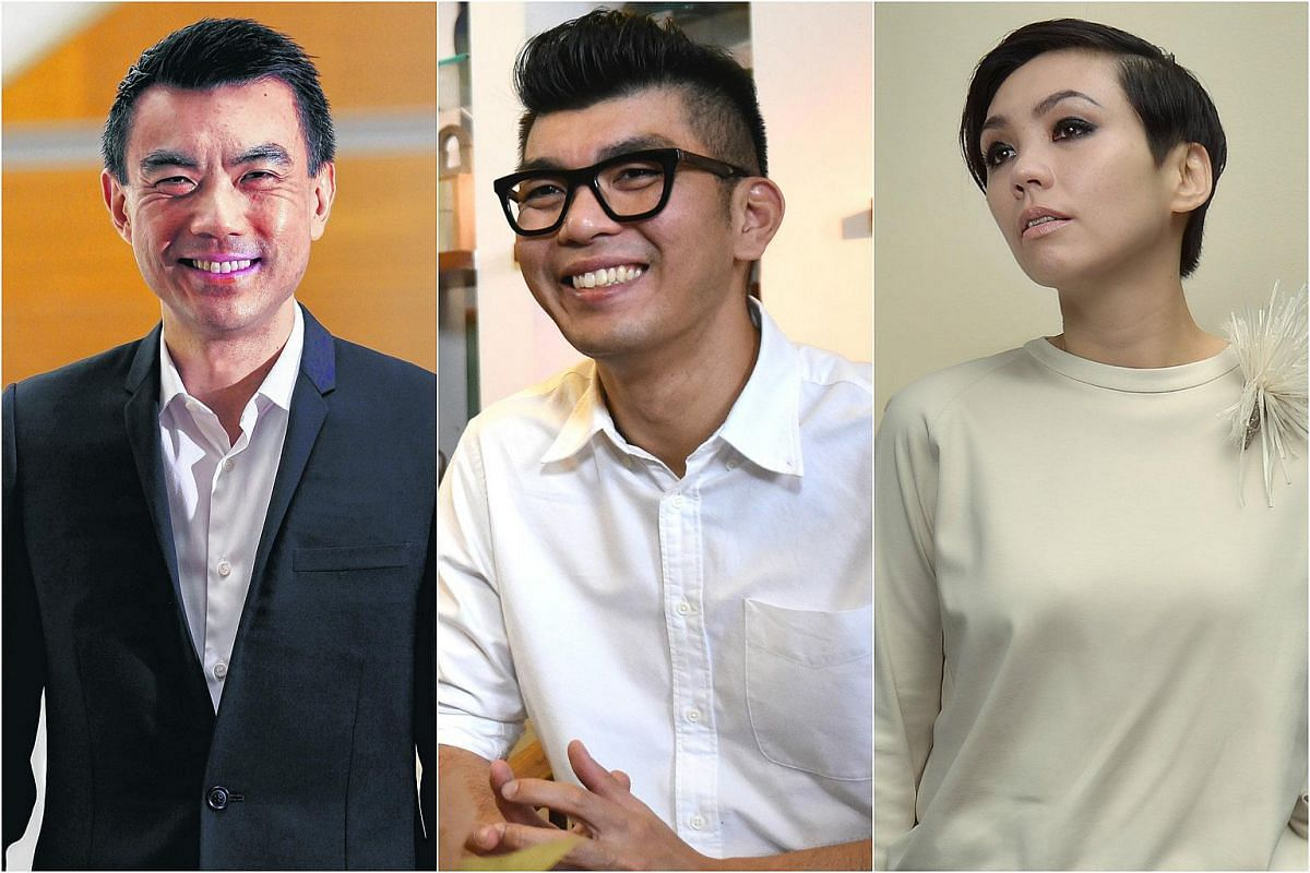(From left) Dr Eugene Tan, Royston Tan and Kit Chan have all made it to this year's The Life Power List.