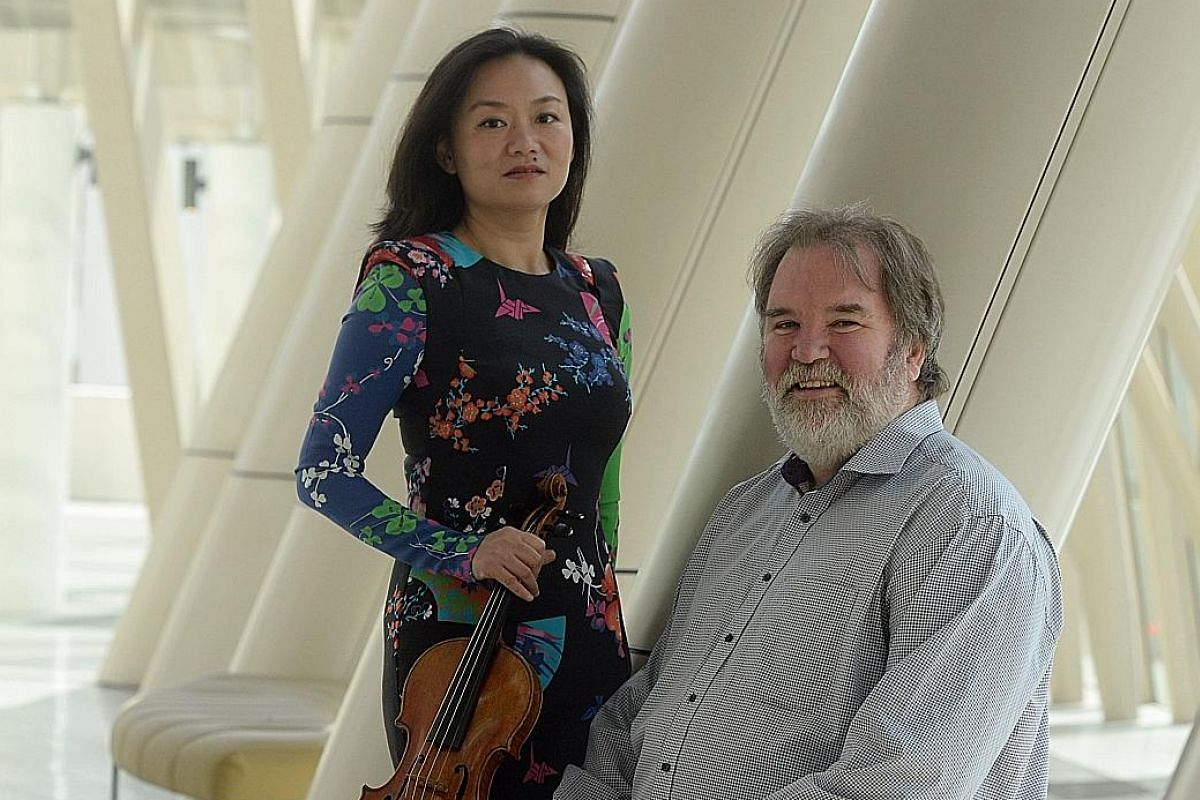 Yong Siew Toh Conservatory's Associate Professor Qian Zhou and Professor Bernard Lanskey are part of the team that organised the Singapore International Violin Competition, which placed the country on the classical music map.