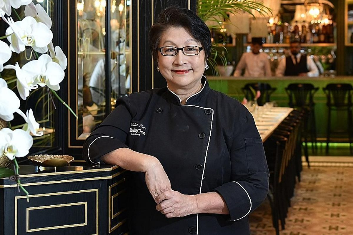 Ms Violet Oon's National Kitchen at the National Gallery Singapore serves Singapore food in an elegant setting.