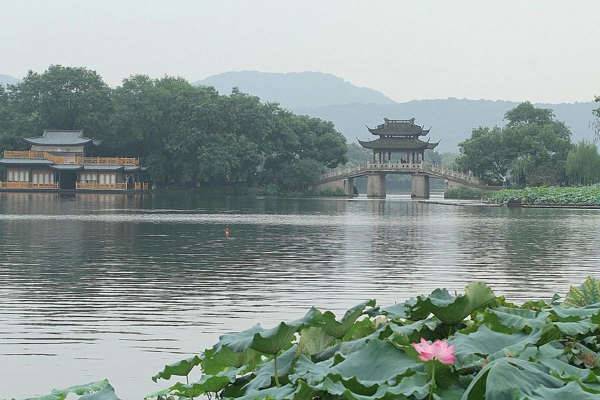 TV host Denise Keller (above) likes Chinese city Hangzhou for its beautiful sights, including West Lake (left).