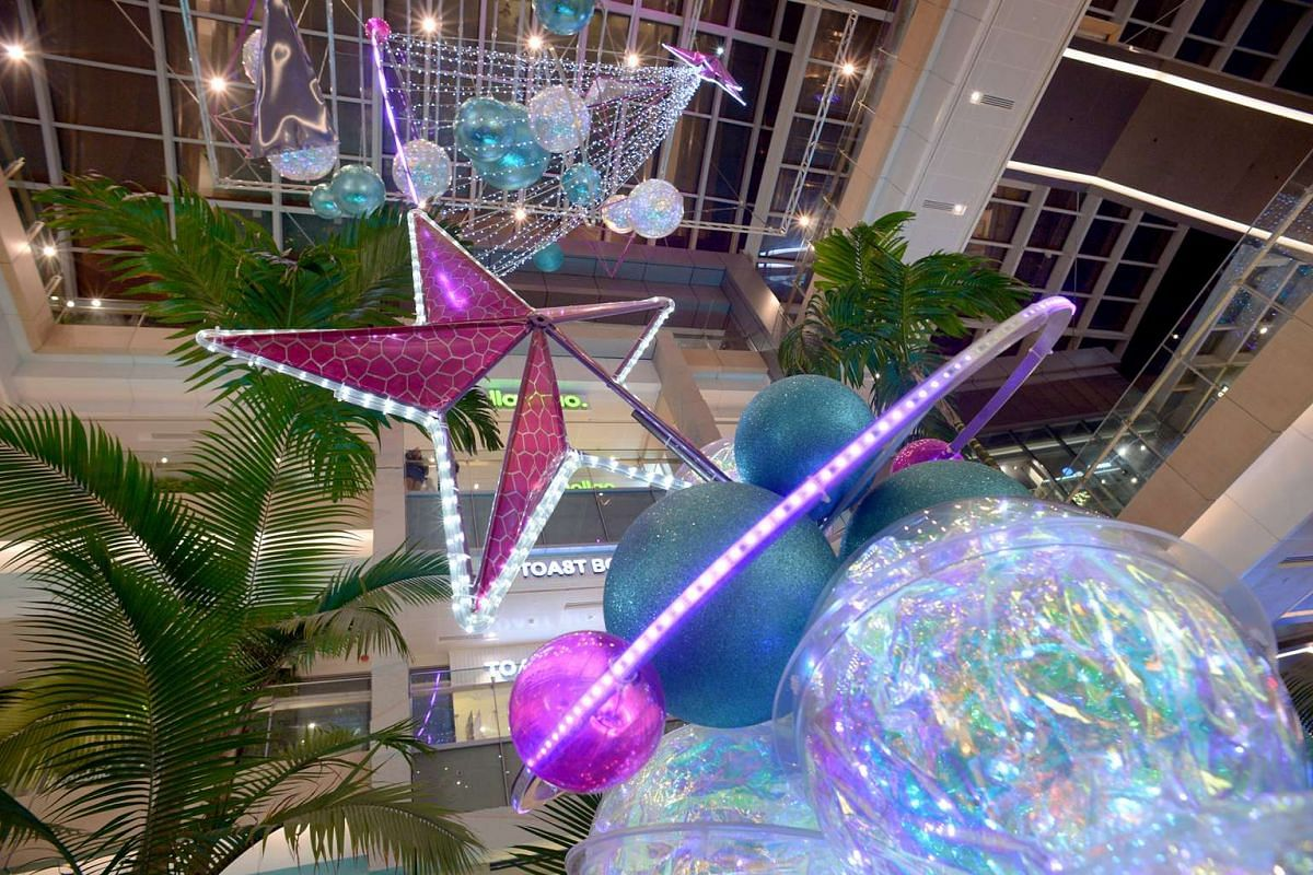 Westgate mall journeys into Christmas future with galactic-themed decorations such as interstellar baubles and futuristic trees that bring to mind the Milky Way.