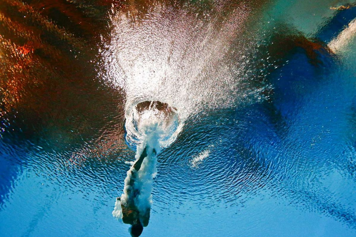 Italy's Tania Cagnotto seen during the women's 3m springboard semi-final at the Aquatics World Championships in Kazan, Russia on July 31, 2015.
