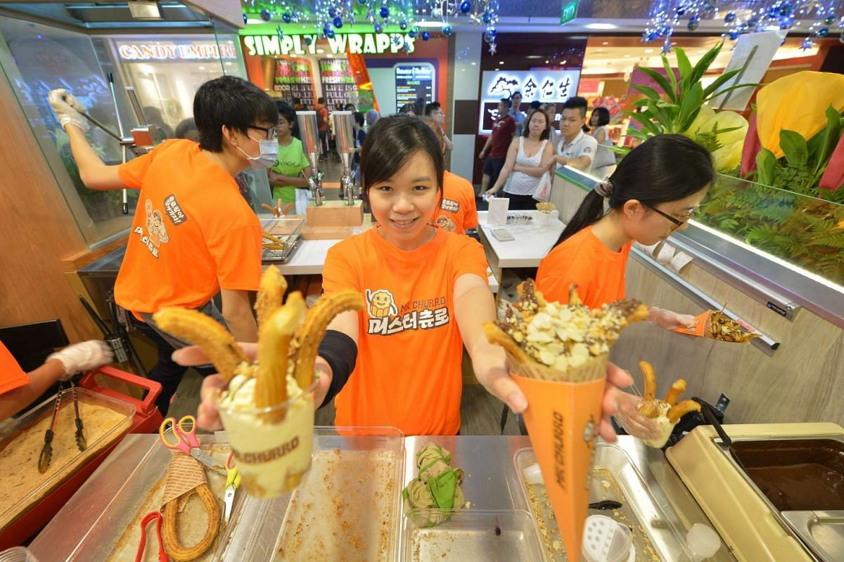 Former bank executive Yvonne Lim owns the Singapore outlet of Mr Churro at Ion Orchard.