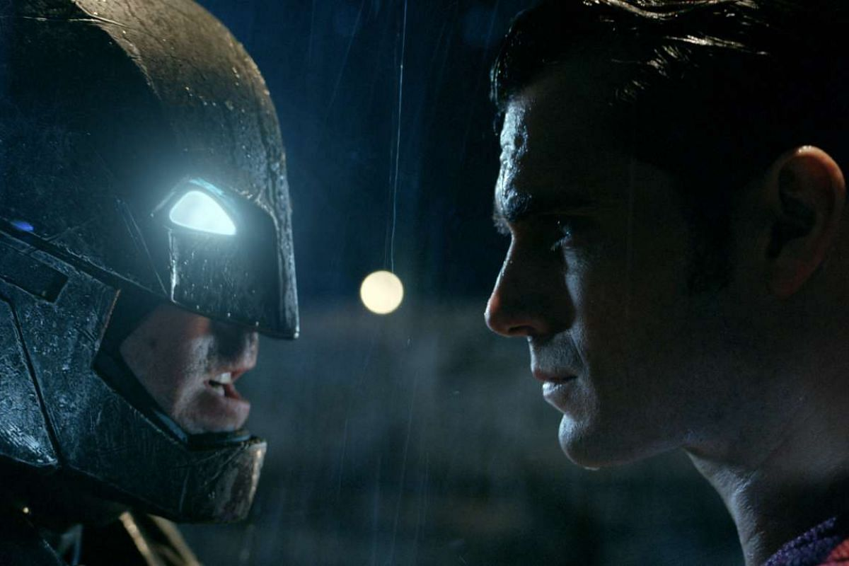 Batman (Ben Affleck) takes on Superman (Henry Cavill) in Batman V Superman: Dawn Of Justice.