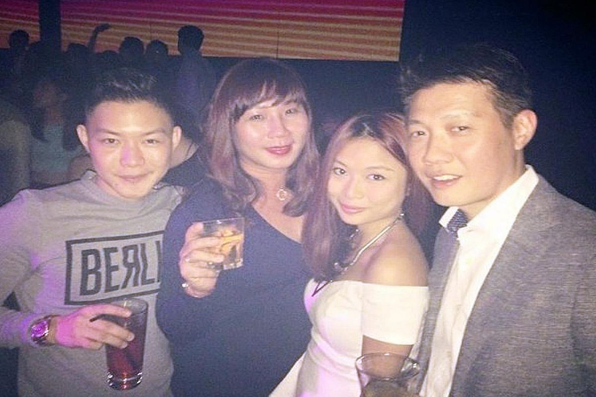 Canvas Singapore co-owner Roy Ng (left) and advertising director Daniel Chan, both parents, party together once or twice a month. Mrs Michele Ng and her husband Simon party with her step- children Cornelyus and Euphoria a few times a month.