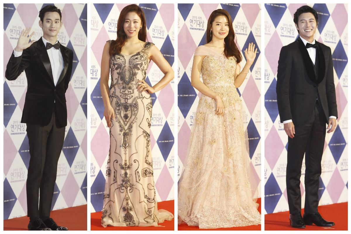 South Korean actors from left to right: Kim Soo-Hyun, Lee Mi-Do, Yoon Seo, and Jae Hee.
