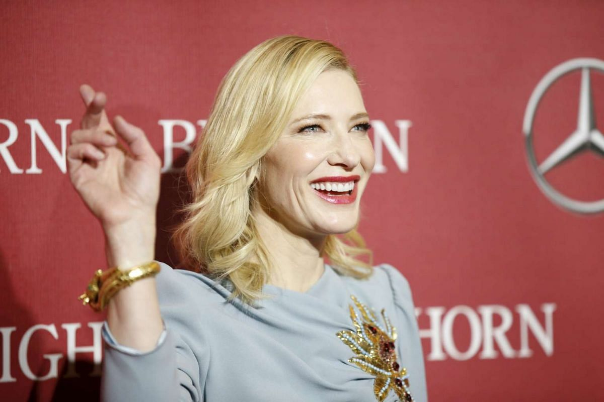 Desert Palm Achievement Award recipient actress Cate Blanchett at the 27th Annual Palm Springs International Film Festival Awards Gala in Palm Springs, California, on Jan 2, 2016.