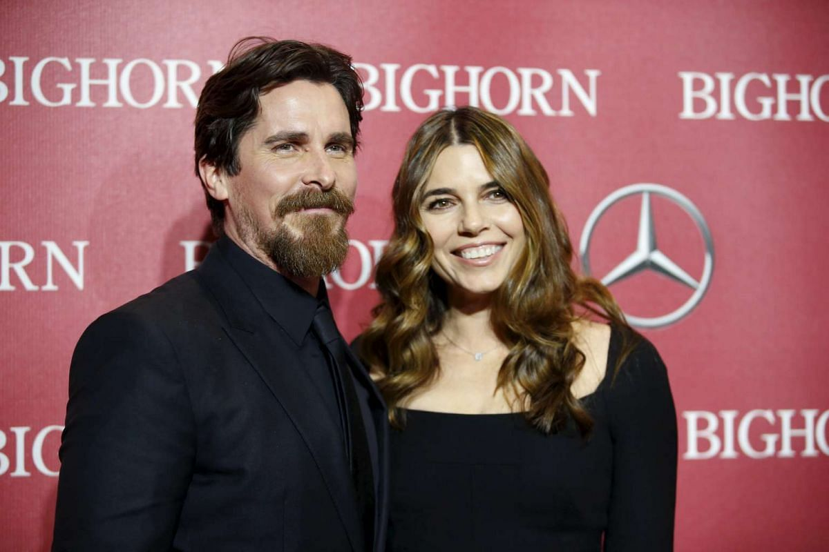 Christian Bale (left), one of the actors receiving the Ensemble Performance Award for The Big Short, and his wife actress Sibi Blazic, at the 27th Annual Palm Springs International Film Festival Awards Gala in Palm Springs, California, on Jan 2, 2016