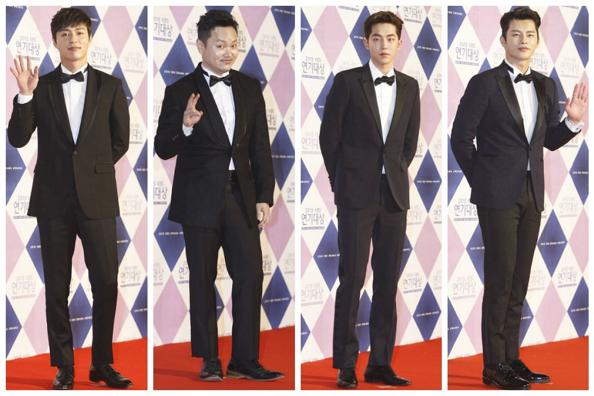 South Korean actors from left to right: Oh Min-Seok, Kim Min-Kyo, Nam Joo-Hyuk, and Seo In-Gook.