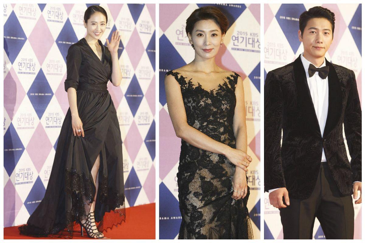 South Korean actors from left to right: Kim Min-Jung, Kim Seo-Hyung, and Lee Sang-Woo.