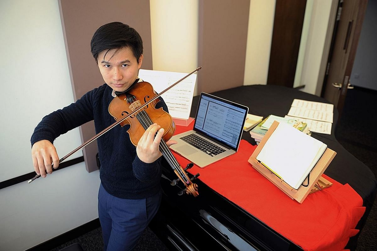 Chen Zhangyi's dream is to learn every instrument. He plays the piano, violin and viola.