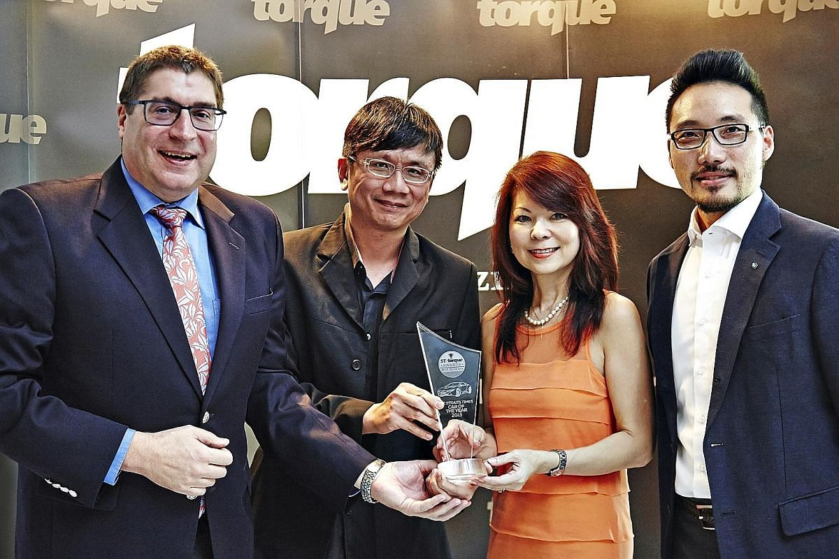 (From far left) Mr Horst Herdtle, managing director of Performance Motors, Mr David Ting, editor of Torque, Ms Belinda Bay, general manager of Performance Motors, and Mr Sethipong Anutarasoti, corporate affairs director of BMW Group Asia, with the aw