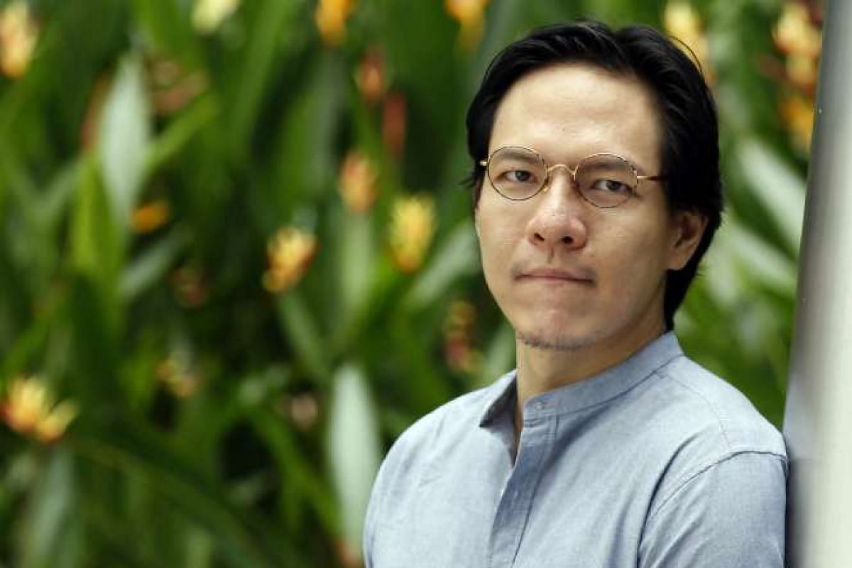 Troy Chin says his graphic novel tries to explain what a Singaporean is.