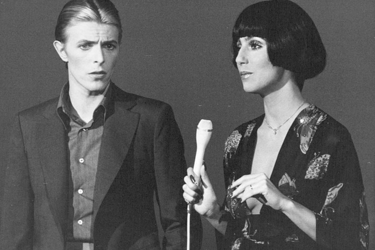 David Bowie performing with Cher on her show in 1975.