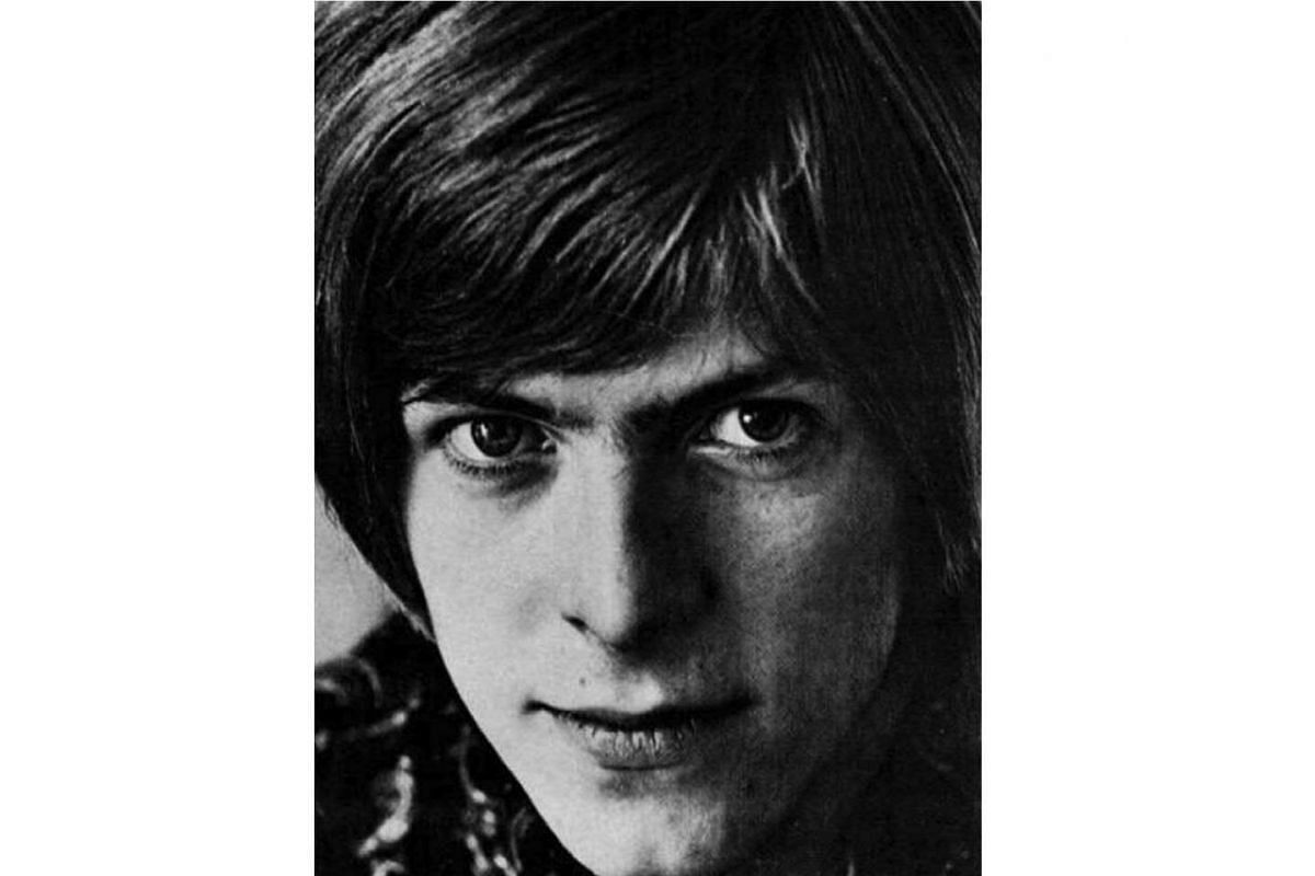A youthful David Bowie, aged 20, in 1967.