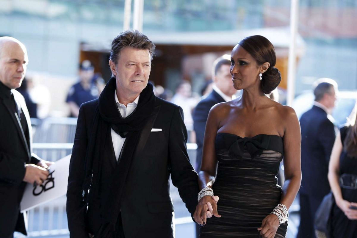 Bowie and his wife at the 2010 CFDA fashion awards in New York.