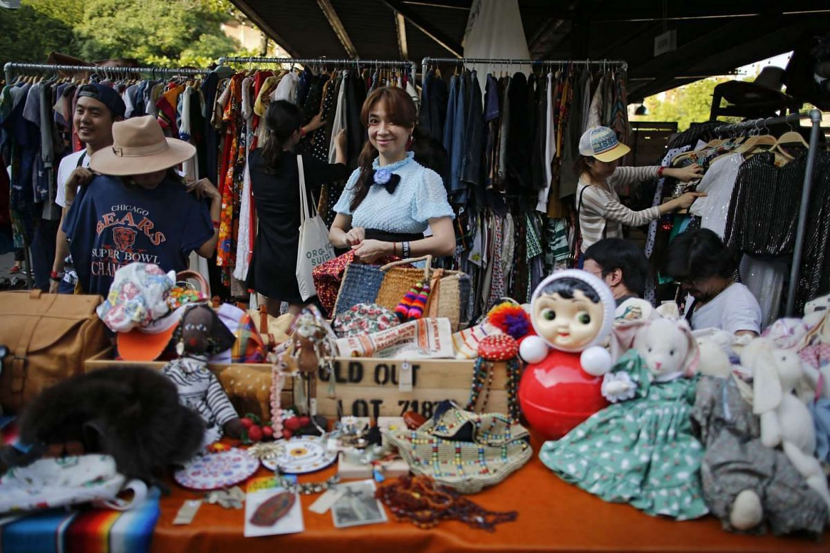 A woman waiting for customers at the vintage market Made By Legacy in Bangkok, Thailand, on Jan 10, 2016.