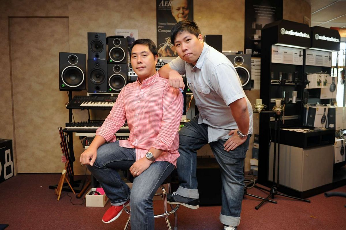 Mr Hoe Yeegn Lougn (left) and Mr Hoe Hsin Loong have boldy reshaped their father's almost half-a-centuryold music store business.