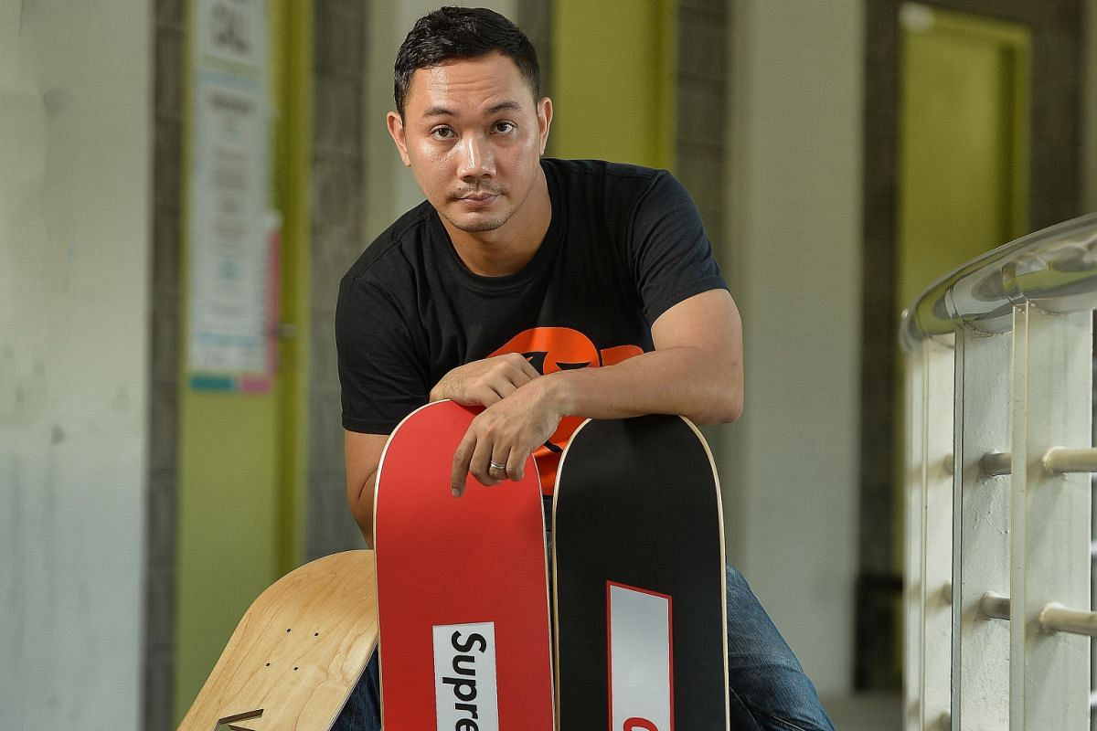 Artist Mohamed Arif Zaini will use the skateboard to make art for a show at Aliwal Arts Centre.