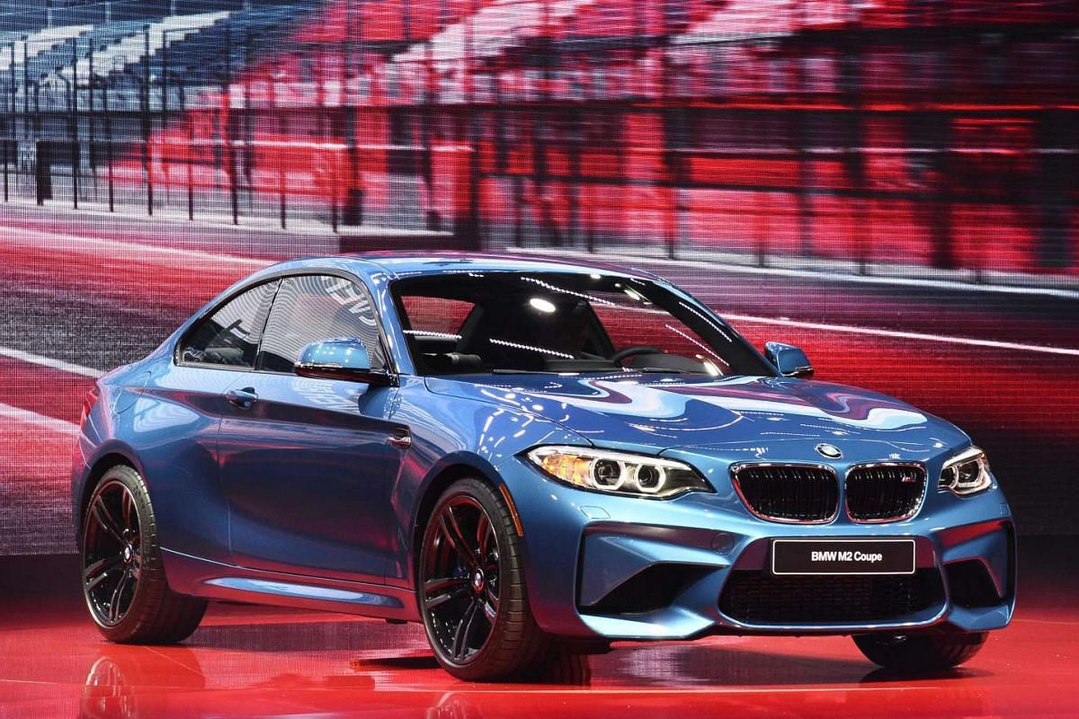 The BMW M2 Coupe at the North American International Auto Show in Detroit, Michigan, on Jan 11, 2016.