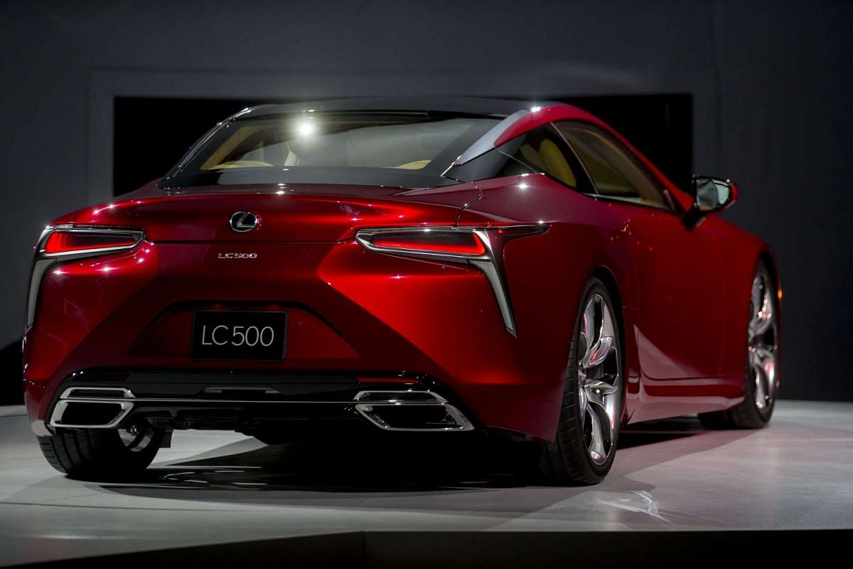 The Toyota Motor Corp. Lexus LC 500 vehicle at the North American International Auto Show in Detroit, Michigan, on Jan 11, 2016.