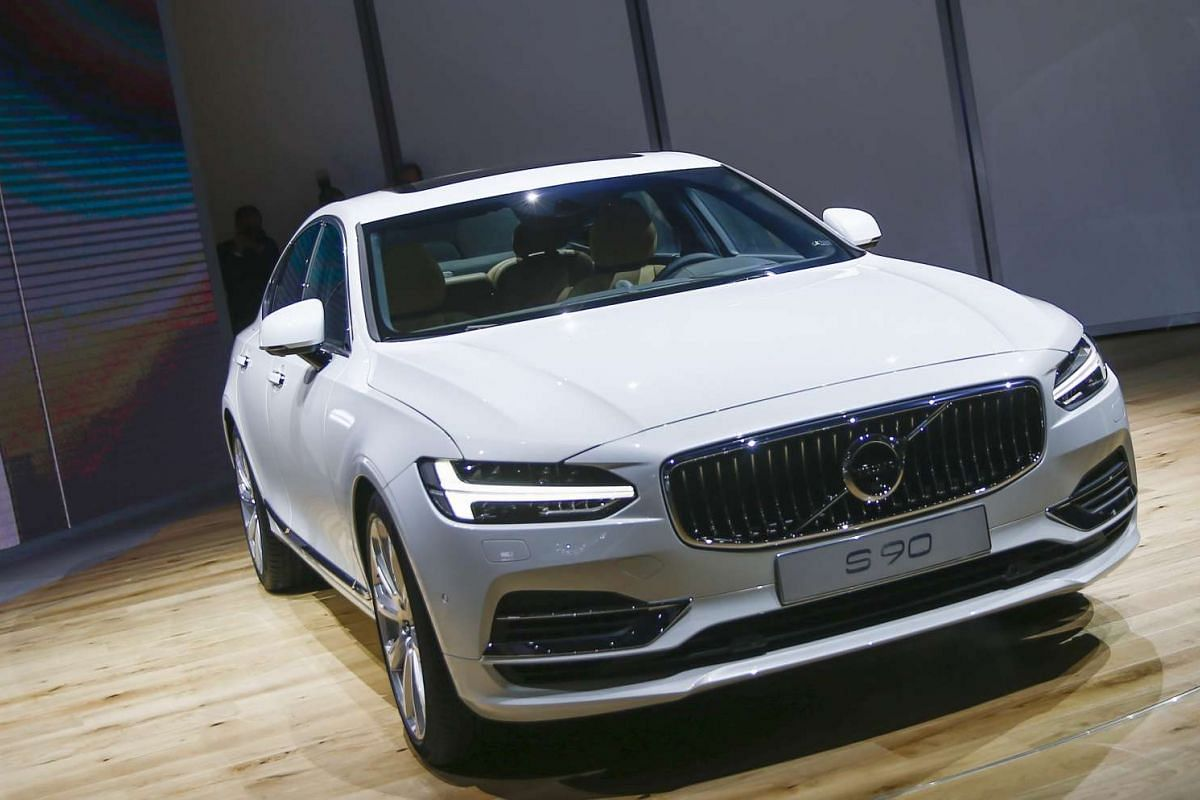 The Volvo S 90 Automobile at the North American International Auto Show in Detroit, Michigan, on Jan 11, 2016.