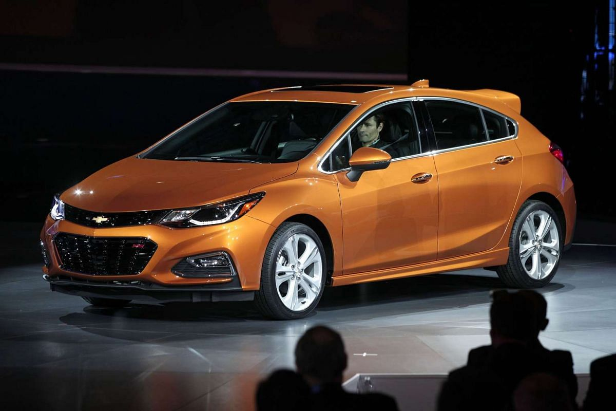 The 2017 Chevy Cruze Hatchback at the North American International Auto Show in Detroit, Michigan, on Jan 11, 2016.
