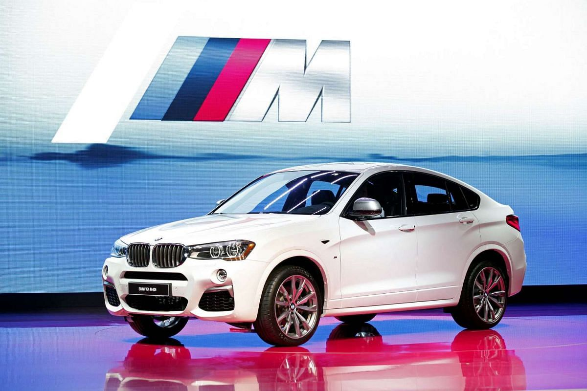 The BMW X4 M40i makes its world debut during the North American International Auto Show in Detroit, Michigan, on Jan 11, 2016.