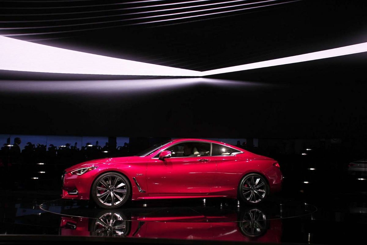 The 2017 Infiniti Q60 at the North American International Auto Show in Detroit, Michigan, on Jan 11, 2016.