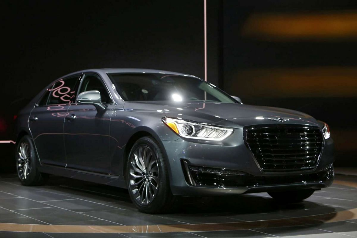 The 2017 Hyundai Genesis G90 at the North American International Auto Show in Detroit, Michigan, on Jan 11, 2016.