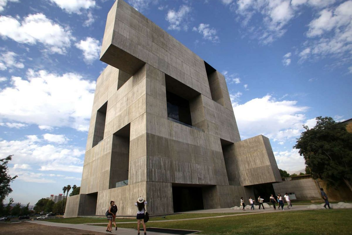 View of Chilean architect Alejandro Aravena's Innovation Centre of the Catholic University of Chile building in Santiago, Chile, on Jan 13, 2016.
