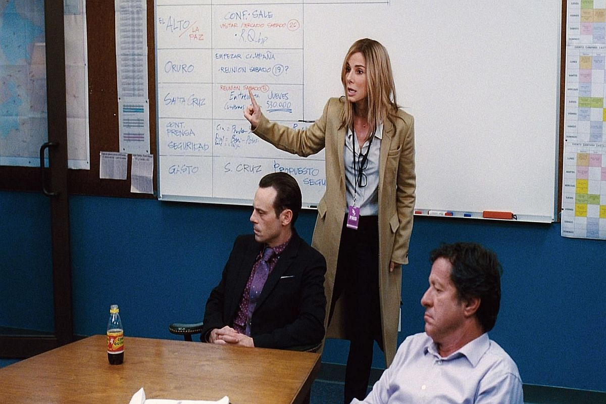 Sandra Bullock as a campaign strategist in Our Brand Is Crisis.