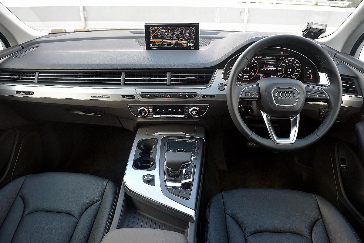 Audi's new Q7 has third-row seats that can be folded flat at the touch of a button.