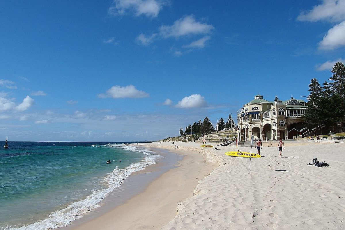 Cottesloe Beach, a popular seaside retreat and suburban neighbourhood in Perth.